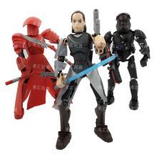 цена на KSZ 322 Star Series Space Wars 8 Last Jedi Rey Models Building Blocks Toys Brick Set Children Lightsaber Sword 75528 Kids Toys