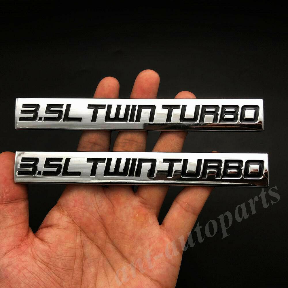 2 шт. металлическая хромированная 3.5L Твин турбо двигатель автомобиля эмблемы для багажника знак наклейки Стикеры