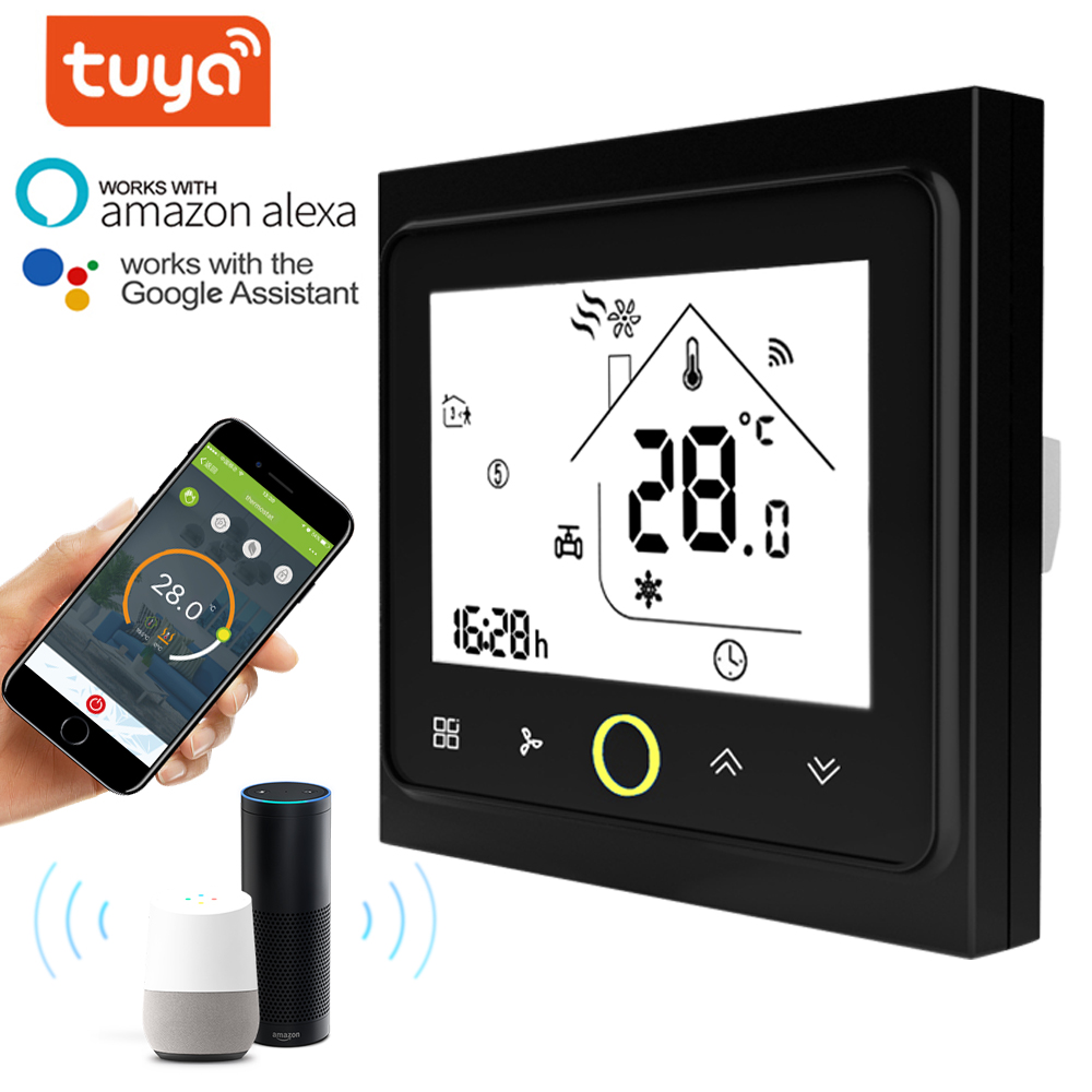 TUYA 2p 4p Cooling/heating Digital Wireless Modbus Wifi Thermostat Room Temperature Control For Central Air Conditioning