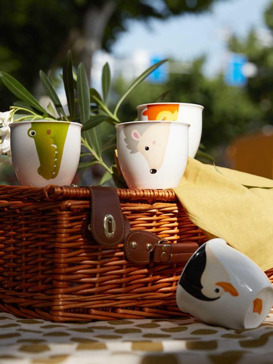 Taza de Animal de cerámica taza de té de leche de café con mango de Animal lindo tazas de beber calientes pintura a mano perro ciervo Panda niños tazas de regalo 50MKB14