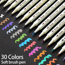 30Colors Metallic Soft Brush Marker Pen DIY Scrapbooking Crafts For Drawing Photo Album Scrapbooking Crafts Card Making