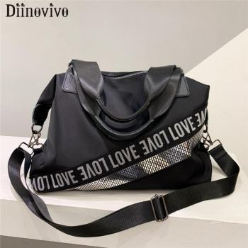 DIINOVIVO Fashion Letter Design Women Bag Handbags Oxford Crossbody Messenger Female Large Travel Totes Bags WHDV1293 - discount item  47% OFF Travel Bags