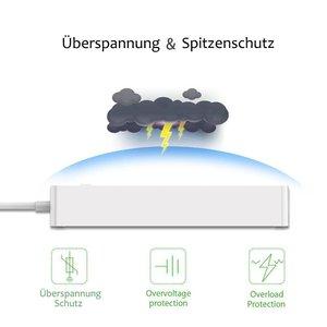 Image 3 - Wifiスマート電源ストリップeuサージプロテクター6方法でacソケット4 usbポートホームコントロールスイッチ互換alexa googleアシスタント