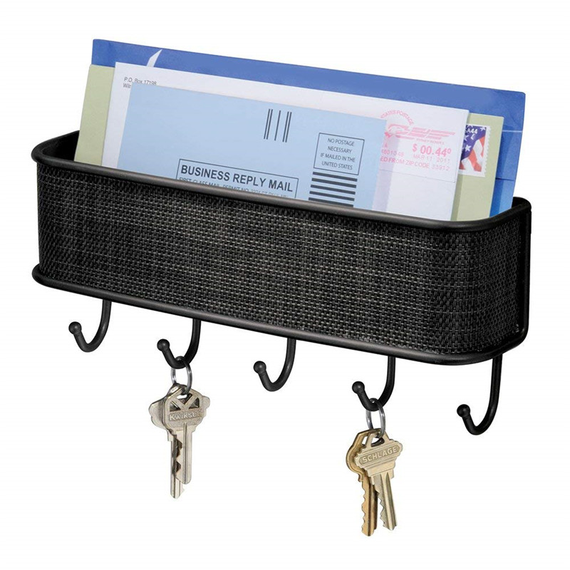 Wall Hook Key Holder Folk Pure Manual Vintage Design Graceful Elegant Bronze Letter Holder Key Rack Organizer Free Shipping