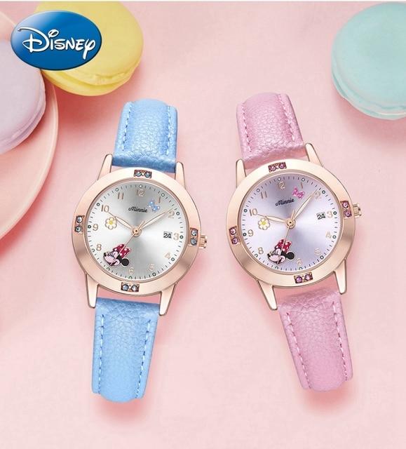 Big Sale Young Ladies Cuties Beautiful Watch Girls Lovely Minnie Strap Wristwatch Luxury Crystal Fashion Simple Clock Child Kid