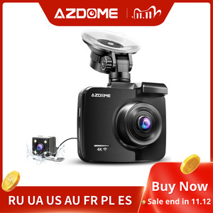 Image 1 - AZDOME GS63H 2.4inches 4K registrar LCD Screen Dash cam Built in GPS Speed Coordinates WiFi DVR 2160p Dual Lens Video recorder