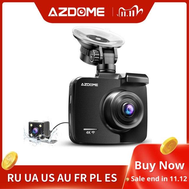 AZDOME GS63H 2.4inches 4K registrar LCD Screen Dash cam Built in GPS Speed Coordinates WiFi DVR 2160p Dual Lens Video recorder