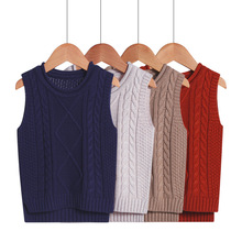 2-6Y Baby Children Sweater Vest Roupas Infantis Winter College Style V-neck Boys Clothes Girls Sweaters Knitted Waistcoat Vests
