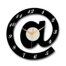 Мультяшные креативные настенные часы с буквами украшение для