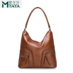 Image 3 - MAIYAYA Brand Soft PU Leather Women Handbags Big Capacity Shoulder Bags High Quality Designer Ladies Hand Bags Women 2019