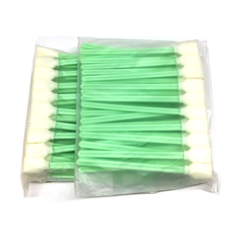Print Head Clean Swab100PCS For Epson DX4 DX5 DX7 TX800 XP600  Stick Sponge Foam Tipped Miamki JV5 CJV150 JHF Solvent Uv Printer