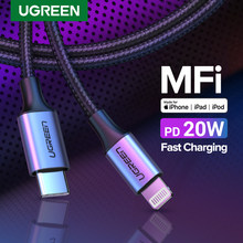 UGREEN – câble USB MFi type-c vers Lightning pour recharge rapide et transfert de données, compatible avec iPhone 12 Mini Pro Max 8 PD 18W 20W et Macbook Pro