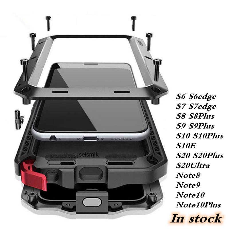 Volledige Beschermende Luxe Doom Armor Metal Case Shockproof Cover Voor Samsung S8 S9 S20 S20Plus Note10 S10 S10Plus S9 S9Plus note8