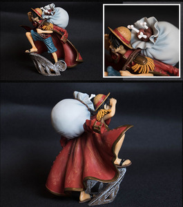 Image 5 - 15cm Scultures Big One Piece Figure Toy Luffy Dracule Mihawk Model Doll With Sword Anime Brinquedos for Children
