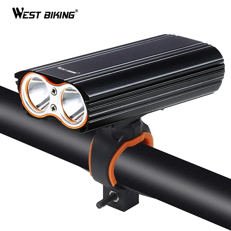 WEST BIKING Professional Bicyle Lights Waterproof USB Rechargeable Bicycle Flashlight XML-T6 LED Flashlight MTB Road Bike Light
