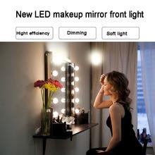 LED Makeup Lamp Bulb Wall Light Decoration 5V USB 2 6 10 14 Bulbs Kit Dressing Table Stepless Dimmable Girl Beauty cheap YANKE Touch