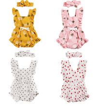2020 Summer Infant Baby Clothes Cute Sleeveless Pineapple Pr