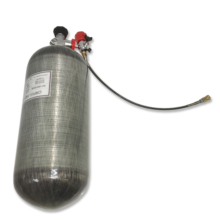 Купить с кэшбэком AC312301 HP 4500PSI Hunting PCP Paintball Air Tank Carbon Fiber Gas Cylinder Diving Tank with Valve and Filling Station Acecare