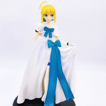 Anime Fate Stay Night Saber Ghost Dress Ver PVC Action Figure Collectible Model doll toy 24cm astro 4th mini album dream part 01 ver night ver day release date 2017 05 30