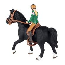 Figura de caballo de juguete de personas de granja, modelo de personas, figura de montar humano coleccionable