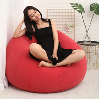 Large Pouf Lazy Sofas Cover Chairs Without Filler Lounger Seat Bean Bag Living Room Furniture Beanbag Tatami Pouf Puff Couch