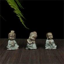 Small Monk Statue Ceramic Fengshui Figurine  Purple Clay Monk Crafts Decorative Ornaments Home Decoration Accessories monk malatesta monk