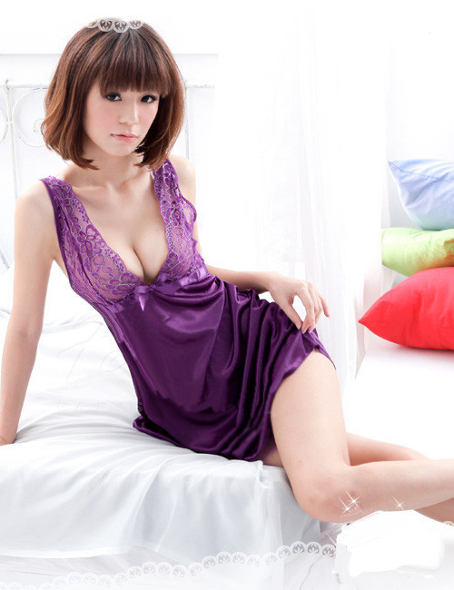 Nightgown Nightwear Women Dress Sexy Lingerie Nightdress Sleepwear Leisurewear Sleepdress Women Sleepshirt Free Shipping AW7393