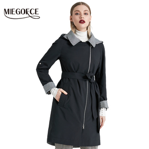 Image 1 - MIEGOFCE 2019 New Product Trench Spring Autumn Female Windproof Warm Female Coat European and American Model Windbreaker