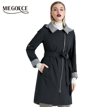 MIEGOFCE 2019 New Product Trench Spring Autumn Female Windproof Warm Female Coat