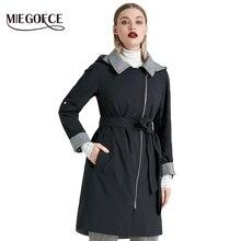 MIEGOFCE 2019 Nieuwe Product Geul Lente Herfst Vrouwelijke Winddicht Warme Vrouwelijke Jas Europese en Amerikaanse Model Winddicht Jas