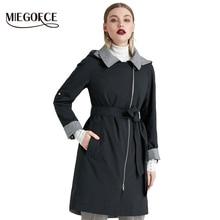 MIEGOFCE 2019 Yeni Ürün Siper Bahar Sonbahar Kadın Rüzgar Geçirmez Sıcak Kadın Ceket Avrupa ve Amerikan Modeli Rüzgar Geçirmez Ceket