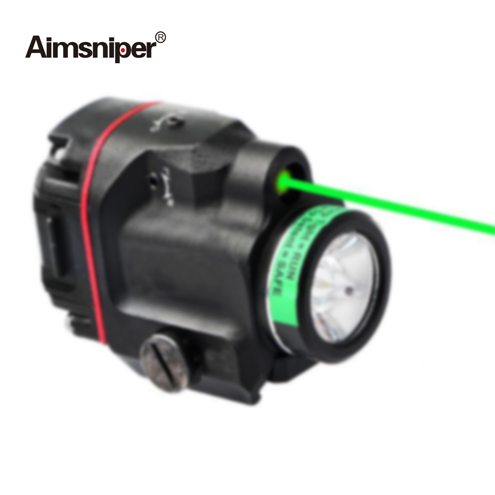 Tactical Tlr Weapon Light LED With Red Green Laser Sight Hunting Gun Flashlight Laser For Rifle Scope Pistol Glock 17 19 SIG CZ-3