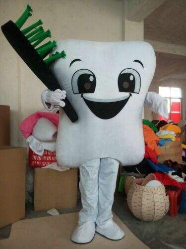 Noël soins dentaires Cosplay dent mascotte Costume adulte Facny robe L taille Costume fait à la main dessin animé personnage mascotte Costume cadeau