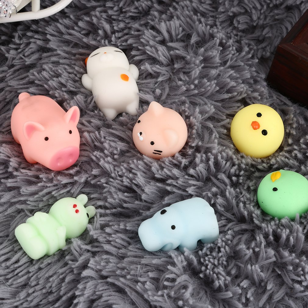 Squishy Mini Squishy Stress Reliever Toys Cute Animal Design Skuishy Animales Panda For Squeeze Decompression Adult Toy For Kids