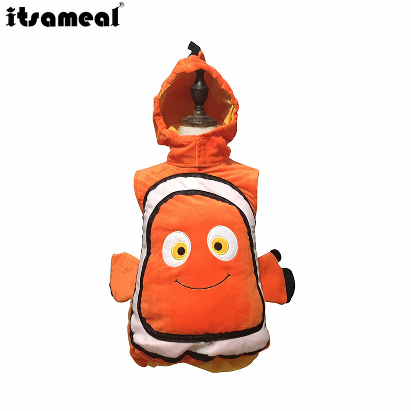 New Style Christmas Children Finding Nemo Clownfish Clothes Children Oceans Animal Costume