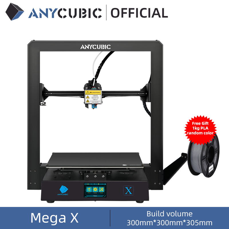 Anycubic Mega X Mega Series 300 300 305mm 3D Printer Large Printing Size Meanwell Power Supply Ultrabase 3d Impressora