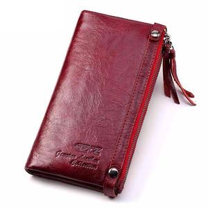 Image 2 - Fashion Wallet Women Wallet Female Purse Genuine Leather Design Female Purse Money Handbag Case Phone Pocket Carteira Feminina