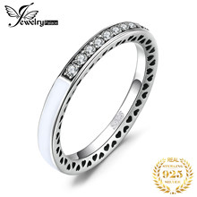 JPalace 채널 반지 여성을위한 925 스털링 실버 반지 Stackable Wedding Ring Eternity Band Silver 925 Jewelry Fine Jewelry(China)