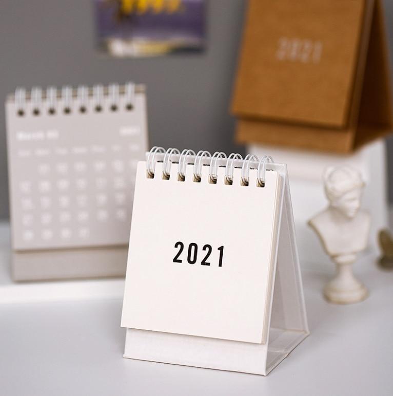 Calendar Book 2021 Calendar 2021 Delicate Simple Desk Refreshing Mini Desktop Note