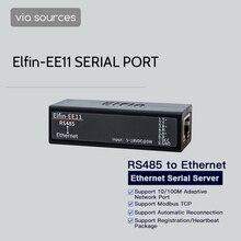 Elfin EE11 rs485 para ethernet modbus porta serial dispositivo servidor conectar à rede tcp protocolo ip porta serial casa inteligente