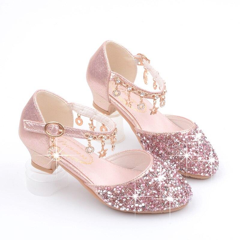 Baru Manis Dekorasi Anak Sandal Princess Gadis Kelap Kelip Tinggi