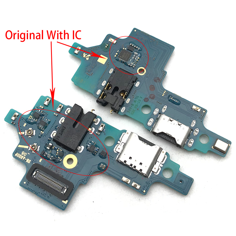 USB Charging Port Board Flex Cable Connector Parts For Samsung Galaxy A9 2018 A920F Microphone Module