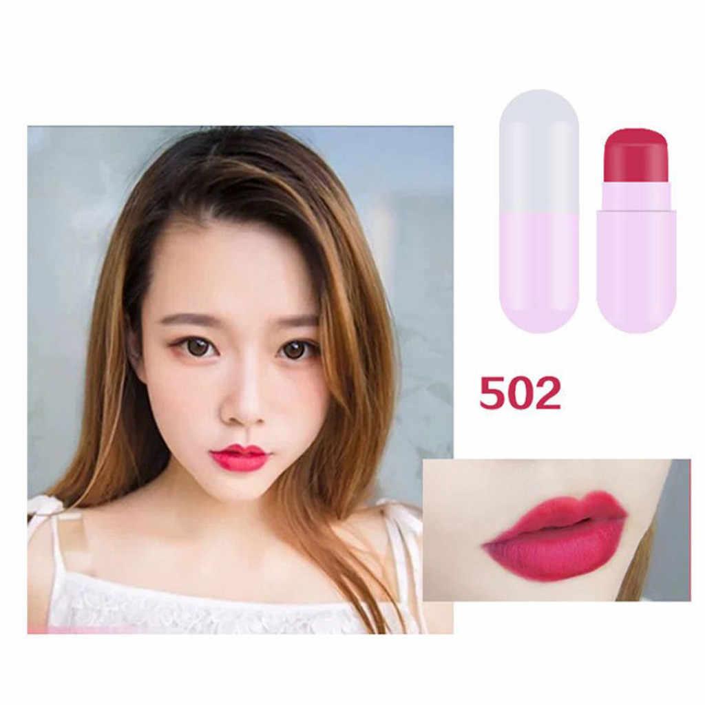 Lipstik Sesuai dengan 5PCS Kapsul Lipstik Tahan Air Tahan Lama Wanita Hadiah Kosmetik Kecantikan Makeup Kesehatan dan Kecantikan Hot Sale
