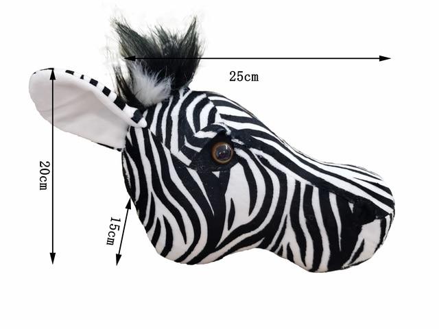 2021 Zebra Caccia decorazioni hunter safari decorazione della parete di animali di peluche realistico reallife per la scuola materna o camera dei bambini foresta