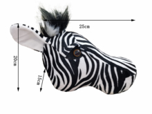 2021 Zebraการล่าสัตว์ตกแต่งHunter Safari Wallตกแต่งตุ๊กตาสัตว์เหมือนจริงReallifeสำหรับสถานรับเลี้ยงเด็กหรือเด็กป่า