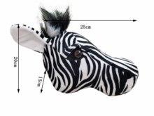 2021 Zebra polowanie dekoracje hunter safari dekoracje ścienne wypchane zwierzęta realistyczne reallife dla przedszkola lub pokoju dziecięcego las
