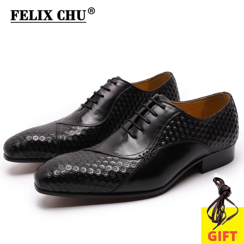 Hommes chaussures habillées en cuir véritable affaires italiennes chaussures formelles noir bleu à lacets mode impression costume chaussures pour hommes Oxford chaussures
