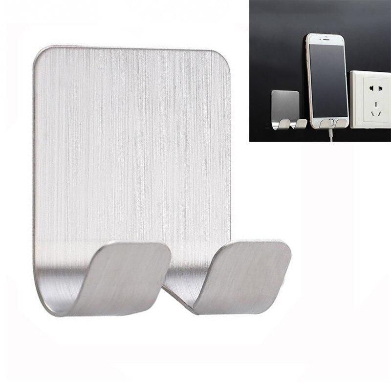 CARPRIE Practical Stainless Steel Hook Storage Wall Door Mobile Phone Holder Hook For Wall  Hook Suspension Bracket