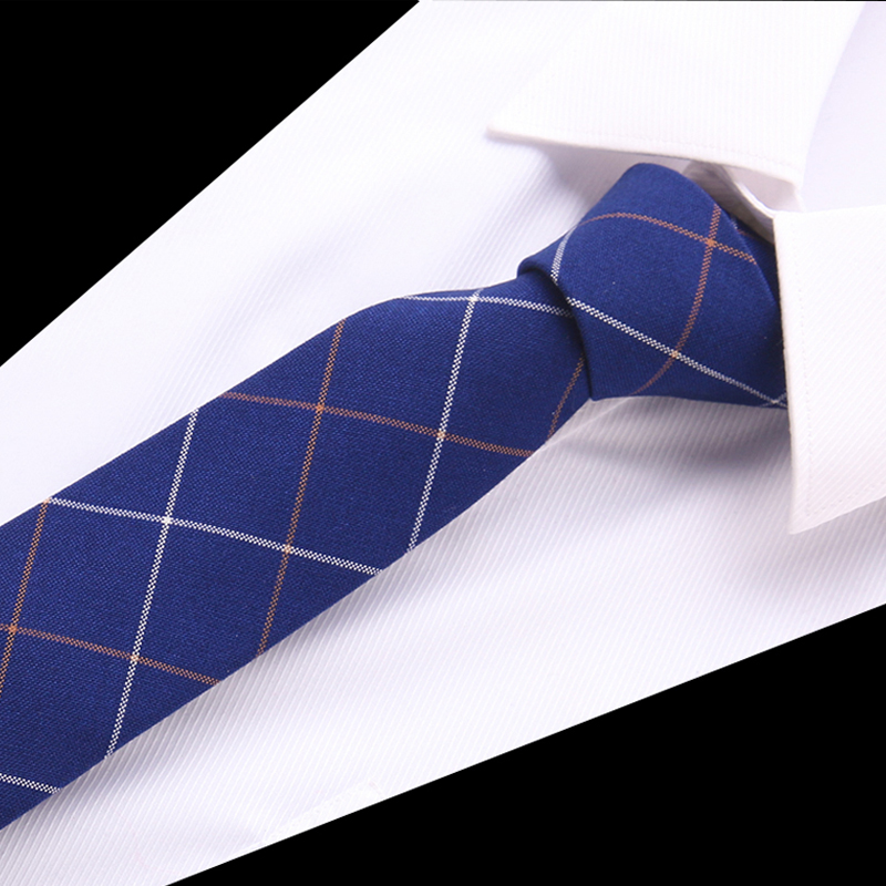 Fashion Tie Classic Men's Plaid Necktie Casual Tartan Suit Bowknots 6.5 Cm Ties Male Cotton Skinny Slim Ties Colourful Cravat