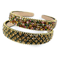 Luxury Women Hairbands Crystal Head Band Gold Wide Hair Bands Bohemian Head band Hair Accessories High Quality